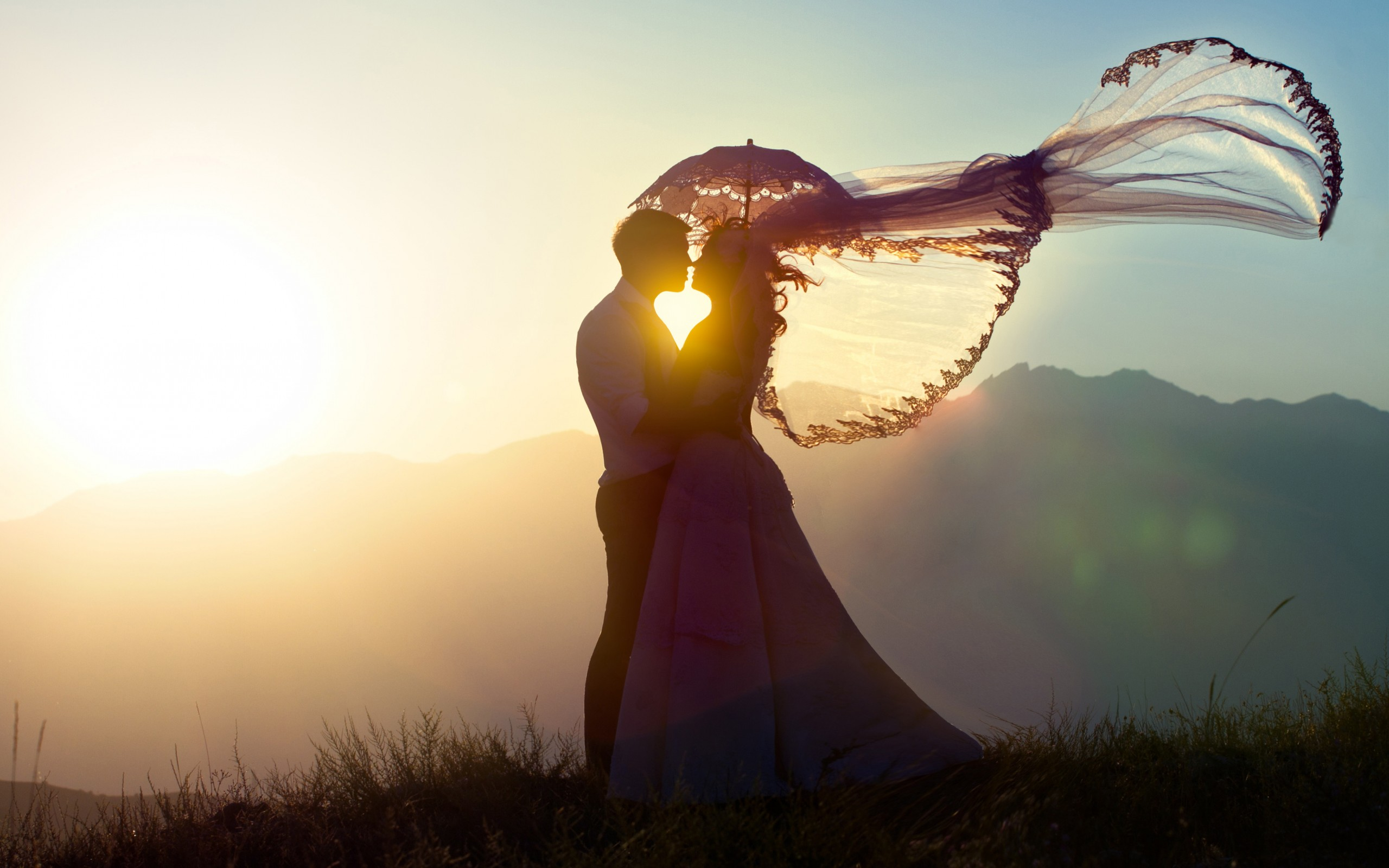wedding couple sunset romance hd wallpapers